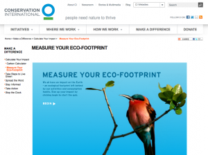 Conservation International Ecological Footprint Calculator
