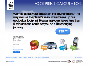 WWF Eco-Footprint Calculator