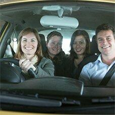 Carpooling - sharing a ride with friends and neighbours