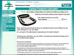 Footprint calculators, Ecological footprint calculator