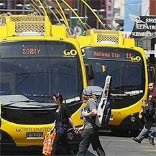 Electric trolley buses in Wellington, New Zealand