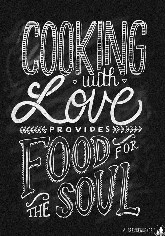Sustainable diet: Cooking with love provides food for the soul